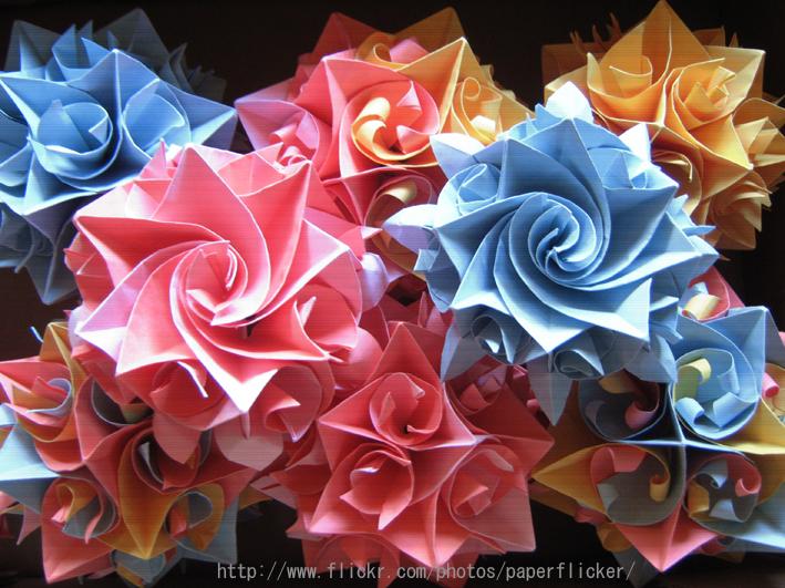 ハート 折り紙 折り紙 花 立体 簡単 : divulgando.net