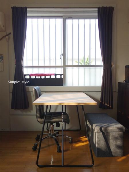 我が家に大きな? 家具がやってきました。 無印良品折りたたみテーブル・ ...