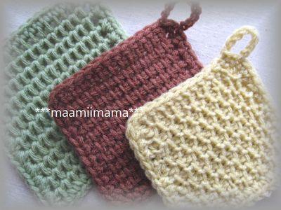 アクリルたわしの編み方とその種類は?簡単可愛い作り方&実例13選!編み図付   BELCY
