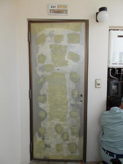クリーンプラネット 玄関ドアシート・フィルム貼り
