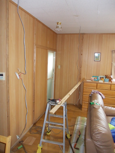 クリーンプラネット 間仕切り壁の設置
