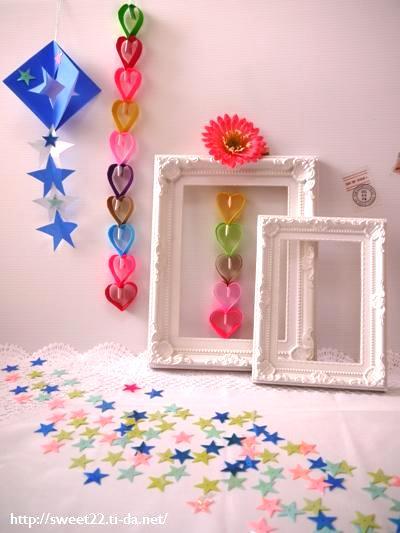 ... のあ: 私の部屋の七夕飾り♪ : 七夕飾り付け 折り紙 : 七夕